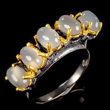 Vintage Natural Moonstone 925 Sterling Silver Ring Size 7.25/R115444