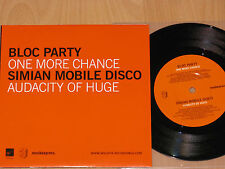 "7""  BLOC PARTY / SIMIAN MOBILE DISCO  - ONE MORE CHANCE / AUDACITY OF HUGE - NEU"