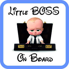 Baby On Board Sticker Vinyl Little boss sign for car van Waterproof UV proof