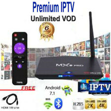 HEVC MX9 IPTV Android TV Box 4K UHD 16GB WiFi 12 Months Subs MAG 410 254 256