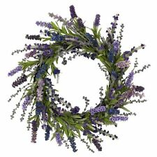 Nearly Natural 4785 Lavender Wreath- 20-Inch- Purple