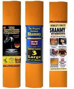 3 Pk The Original German Shammy 20 x 27 Made In Germany Shammies Towels Chamois