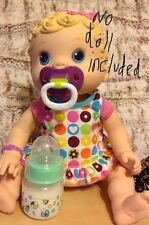BABY ALIVE WET AND WIGGLES, CHANGING TIME, PACIFIER AND BOTTLE HOME MADE NO DOLL