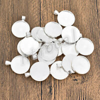 10pcs dark silver color  round shaped cabochon setting in 18mm EF3286