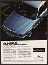 1994 BMW 540i Original Print AD - Silver car photo, AGS, artificial intelligence