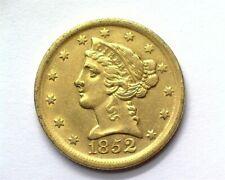 1852-D LIBERTY HEAD $5 GOLD NEAR CHOICE UNCIRCULATED RARE THIS NICE!!