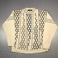 Vintage 90s PROTEGE COLLECTION Cosby Style Mens Sweater XL | 3D Knit Jumper