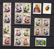 3883-86 3887-90 3883-86b 3891-94 Santa Ornaments & 3 Holiday Issues 2004 MNH