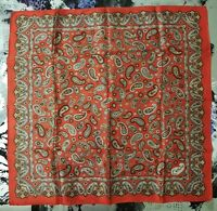 "Vintage 1970's Kitschy Paisley ""Carlos"" scarf (22 x 22)"