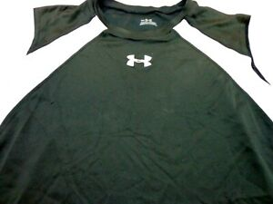 Under Armour Tank Top Boys Black with White Trim  Youth XL YXL  FLAWS