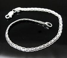 """Real Solid Silver Men's Fancy Chain Link Bracelet Size 8.3""""  Unisex"""