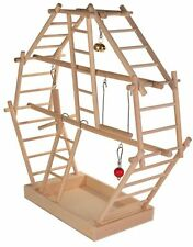 Bird Budgie Canary Wood Playground Toy with Play Ladder & Perch for Cage TRIXIE
