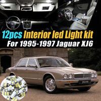 18x LED bulb Interior Light Kit For 1995 1996 1997 Jaguar XJ XJ6 XJR X300