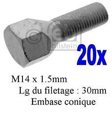 14x1.5 noix conique pour peugeot boxer 94-06 Roue alliage boulons Mk2 20