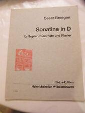 Spartito Sonatina in D Cesar Bresgen Flauto a becco e Piano