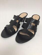 Women's 8 M Sandals NATURALIZER Open Back Black Leather