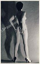 Nude woman study rear view/aktstudie dos po nu * vintage 70s photo pc
