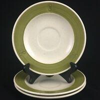 Set of 3 VTG Saucer Plates by Metlox Poppytrail Vernon Provincial Fruit 372 USA