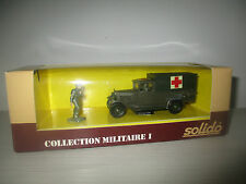 AMBULANCE C4 COLLECTION MILITARE I  N°6020 SOLIDO SCALA 1:43