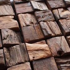 Wood 3d wall panelling mosaics tile backsplash deco bath kitchen home bar tile