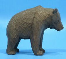 Antique Swiss Black Forest Wood Hunt Carving BEAR c1900 Brienz