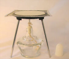 "Lab Bunsen Burner Tripod With Mesh Screen Cast Iron Support Stand 6"" Alcohol"