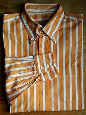 VAN LAACK Hemd Masculin Langarm KW 39 Gr.M orange-weiß gestreift BW 54 cm (V104)