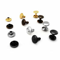 Double cap rivets 9 mm cap  8 mm pin height  Rapid Rivets studs leather AFZ