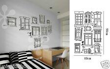 Hand Drawn Windows WALL DECAL Room Stickers Boys Girls Bedroom Decor