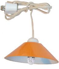 Deckenlampe Hängelampe orange mit LED für Puppenhaus Kahlert 10599