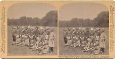 Stereoview Coronation Imperial Service Officers from the other World 1902
