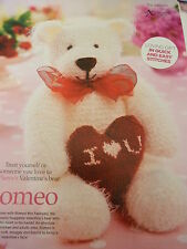 Knitting Pattern By Val Pierce To Knit Soft Chunky Teddy & Heart Cushion