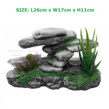 Mountain View Artificial Rockery Aquarium Ornament Turtoises Climbing Terrace