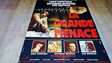 LA GRANDE MENACE ! lino ventura richad burton affiche cinema 1978