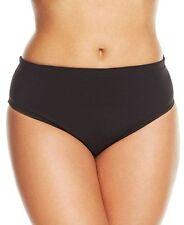 NEW Becca by Rebecca Virtue Black Hipster Bikini Bottom Plus 1X 16-18