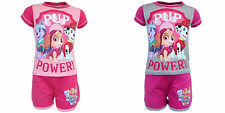 New girls licensed Disney Paw Patrol summer set shorts with top cotton pink grey