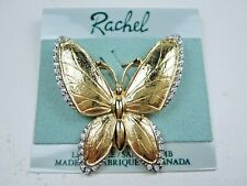 with Swarovski Crystals 1875 Rachel Gold Plated Butterfly Brooch