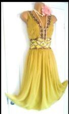 Vintage 1920s Gatsby Flapper Charleston Beaded Sequin Dress Size 12