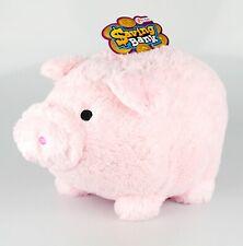 Riesen-Sparschwein Spardose aus Plüsch, herrlich weich, rosa, 36cm, von Toi-Toys