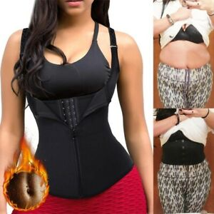 UK Sweat Sauna Vest Body Shaper Women Slim Gym Corset Neoprene Waist Trainer Hot