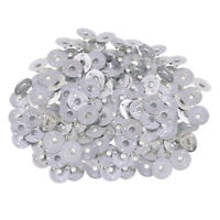 500pcs Silver Metal Candle Wicks Sustainers Tabs Base for Candle Making DIY