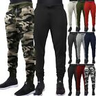 Mens Jogger Pants Sweatpants Track Slim Fit Fleece Workout Gym Basic Sports Camo