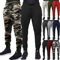 Mens Jogger Pants Sweatpants Track Slim Fit Fleece Workout Gym Basic Sports Camo