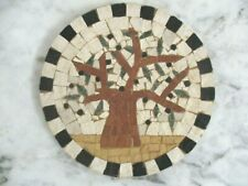 Handmade roman marble mosaic Wall hanging OLIVE TREE Mosaique