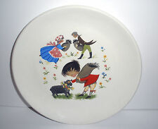 Vintage Child's Small Plate Baa Baa Black Sheep Old Foley Made in England
