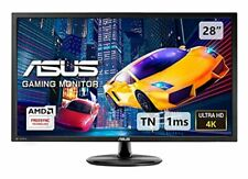 ASUS VP28UQG, 28 Inch 4K (3840 x 2160) Gaming Monitor, 1 ms, DP, HDMI, FreeSync,