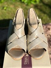 Clarks Orlena Chutney Gold Leather Sandals 11W New With Box A252670