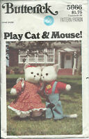 B 5666 sewing pattern CAT MOUSE Mice DOLLS & CLOTHES Dress Shirt Pants Hat Shoes