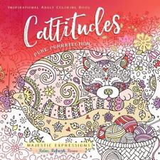 Cattitudes - Inspirational Christian Adult Coloring Book - Cat Lovers - NEW