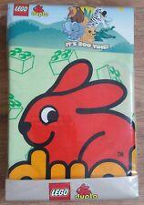 LEGO DUPLO 'BLOCKS' Junior Duvet Cover & Pillowcase Set 120cm x 150cm. Zoo Theme